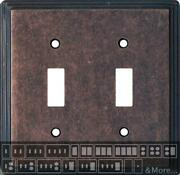 Art Deco Step Mottled Antique Copper Switch Plates Wall Plates And Outlet Covers
