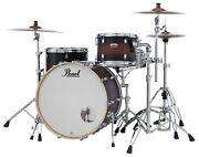 Pearl Decade Maple Satin Brown Burst 13/16/24 3pc Shell Pack +hwp-930s Hardware