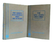 The King James Open Bible + The Liberty Illustrated Bible Dictionary Lot Of 2 Hc