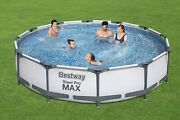 Bestway 12' X 30 Steel Pro Frame Max Round Above Ground Swimming Pool With Pump