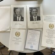 Official President Obama Biden 2009 Inauguration Invite And Program And Ball Tickets