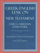A Greek-english Lexicon Of The New Testament And Other Early Christian