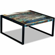 Vidaxl Solid Reclaimed Wood Coffee Side Sofa End Table Living Room Stand
