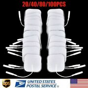 20/100pcs Replacement Electrode Patches Pads For Tens Units Therapy Massager 2mm