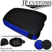 Black And Blue Vinyl Custom Fits Yamaha Tzr 125 R 91-92 Rear Seat Cover+wsp