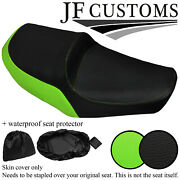 Black And Green Vinyl Custom Made Fits Yamaha Xs 650 Se Dual Seat Cover +wsp