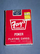 Vintage Fayand039s Drugs Liverpool Ny Unopened Deck Of Playing Cards