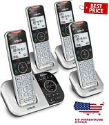 Vtech Dect 6.0 Cordless Phone Answering System Bluetooth Call Block 4 Handsets