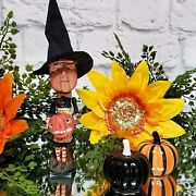 Witch Poliwoggs 8.5 Figure Halloween Village Lg Vintage 90s Wicca Goth