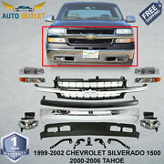 Front Bumper Kit For 1999-02 Chevrolet Silverado 1500 Light Duty And 2000-06 Tahoe