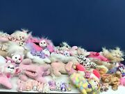 Vtg And Modern Lot Puppy Kitty Horse Surprise Mom And Baby Plush Toys Cats Dogs Used