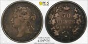 1870-lcw Canada 50 Cent Pcgs Vf30 Lotg1194 Silver Nice Circulated Example