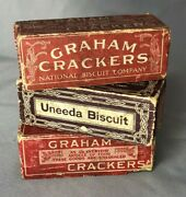 1899 National Biscuit Co Uneeda Graham Crackers Toy Blocks For Tin Truck Antique