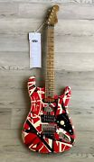 New Evh Striped Series Frankie Relic'd Electric Guitar R/b/w In Stock