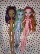 Monster High Doll Lot Of 3 Rare Discontinued Clawdeen Twyla Gigi Grant 13 Wishes