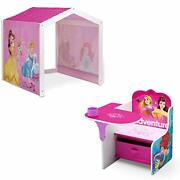 Disney Princess Indoor Playhouse With Fabric Tent + Princess Chair Desk With ...