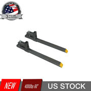 Attachments Heavy Duty 60 Clamp-on Pallet Forks 4000 Lbs Loader Bucket