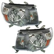 Headlight Set For 2005-2011 Toyota Tacoma Left And Right With Sport Package Capa