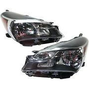 Headlight For 2015-2017 Toyota Yaris Ce L Le Pair Lh And Rh Capa