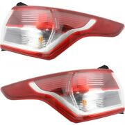 Set Of 2 Tail Light For 13-2016 Ford Escape S Lh And Rh Outer Body Mounted