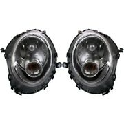 Headlight Set For 2007-2015 Mini Cooper Left And Right With Bulb Capa 2pc