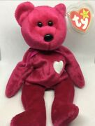 Valentina Rare Ty Beanie Baby Tag Errors 1998/99 W Hologram New With Tags