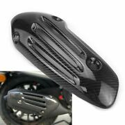 Motorcycle Carbon Fibre Exhaust Pipe Cover Heat Protect Shield For Vespa Sprint