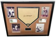 Joe Dimaggio Signed Autographed Framed Home Plate New York Yankees 57/300 Psa