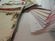 800+ Lot Scrapbook Patterned Paper And Cardstock Craft Punch 12x12 Retired New