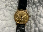 Lucien Piccard 18k Gold 20 Coin Watch