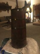 Antique Vintage Wooden Butter Churn W/ Metal Wire Rings
