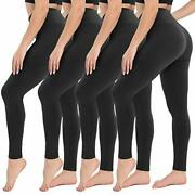 Campsnail 4 Pack High Waisted Leggings For Women- Soft Tummy Control Slimming...