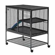 Midwest Homes For Pets Deluxe Critter Nation Single Unit Small Animal Cage Mo...