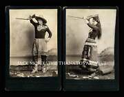 Rare 1800s Antique Photo Set Native American Sharpshooters Wild West Trick Shots