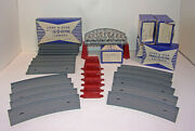 Vintage Lone Star Treble-o-lectric Large Lot Incline Piers / Trays And Bridge