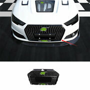 2017-2019 Abs Black Front Center Mesh Grille Grill Cover Trim Fit For Audi A4 B9
