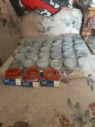 30 Old Vintage Ball Zinc Canning Fruit Jar Lids And 30 Rubber Rings