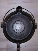Antique Wagner Ware The Wagner Cast Iron Waffle Maker Pat. 1892