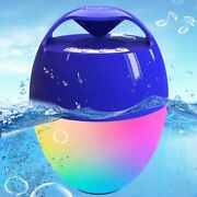 Portable Bluetooth Pool Speaker,hot Tub Speaker With Colorful Lights,ip68 Water