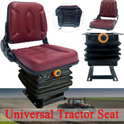 Universal Tractor Seat With Suspension Lawn Mower Forklift Seat Replacement Us