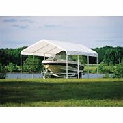 Shelterlogic 12' X 20' Supermax Heavy Duty Steel Frame Quick And Easy Set-up ...