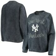 New York Yankees G-iii 4her By Carl Banks Womenand039s Script Comfy Cord Pullover