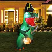 7ft Halloween Inflatable Dinosaur Decorations Clearance Outdoor Blow Up Yard
