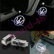 2 Led Logo Door Courtesy Projector Ghost Shadow Light For Maserati Ghibili 2014+