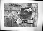 Antique Old Print Survival The Fittest 1891 Stanley Berkeley Man Dogs Tools