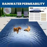 2040in Inground Rectangle Swimming Pool Winter Safety Cover Mesh Covers Multi