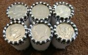 Half Dollar Unsearched Rolls 6 Roll Lot Kennedy 1/2 Dollars Fed Rolled 60 Face