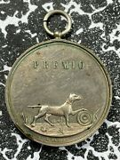 C. 1860and039s Italy Milan Shooting Medal Lotjm3167 Dog/bird Silvered Bronze