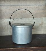 Vintage Child's Aluminum Lunch / Berry Pail Bucket Small Size