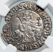 1309-43 Italy Naples King Robert Dand039anjou Antique Medieval Silver Coin Ngc I90708